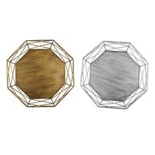 Bandeja de forma geométrica ahueca hacia fuera la cesta de decoración de la Mesa hueca herramientas de soporte para pastel de oro/plata Vintage