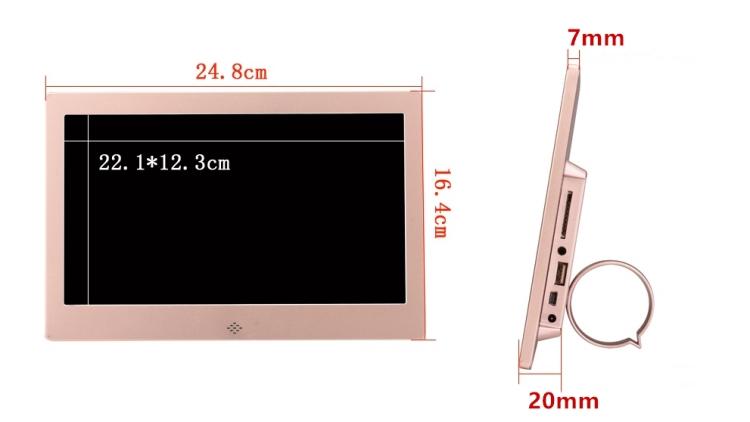 Amazon горячие ЖК экран электронное изображение альбом цифровая