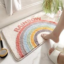 Area Rugs Welcome Doormat Rainbow-Carpet Bathroom-Rug Floor-Mats Home-Decoration Funny