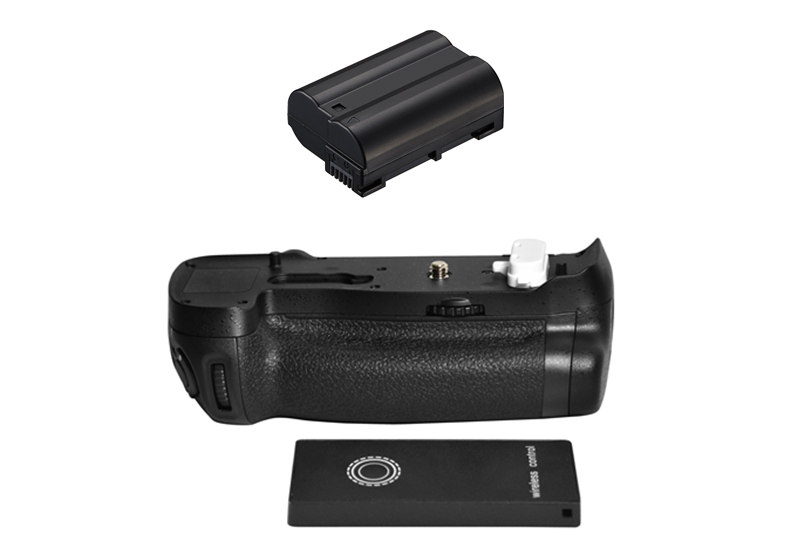 MB-D18 substituição bateria aperto + 2.4g controle remoto sem fio + EN-EL15 el15 bateria para nikon d850 digital slr câmeras.