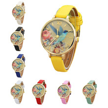 Zegarek damski niebieski Hummingbird damski pasek skórzany do zegarka analogowy zegarek kwarcowy zegarek damski zegarek damski tanie tanio MALLOOM Podwójne wyświetlanie Sprzączka STOP bez wodoodporności Moda casual 12mm ROUND Brak Szkło Watch 23cm bez opakowania