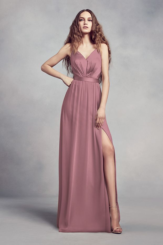 tailor shop custom made Charmeuse Chiffon Bridesmaid Dress quartz color bridesmaid dress chianti formal plus size sterling color