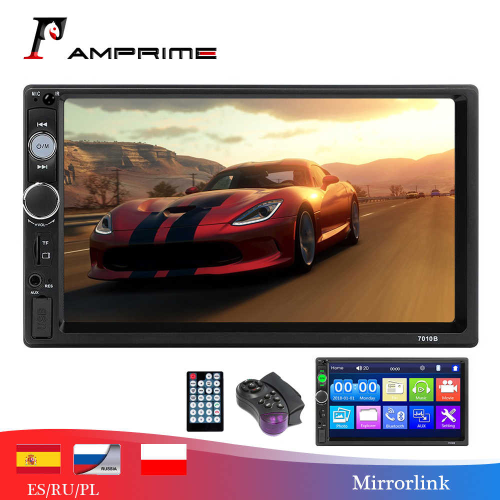 Amprime Mobil Radio Cermin Link Auto Radio 2 DIN Mobil Umum Model 7 ''Inch HD Touch Screen Bluetooth Auto Stereo kamera Belakang Belakang