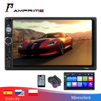 AMPrime Car Radio Mirror Link Autoradio 2 din General Car Models 7'' inch HD Touch Screen Bluetooth Auto stereo Rear View Camera