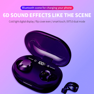 Image 3 - Auriculares TWS 5,0, inalámbricos por Bluetooth, auriculares estéreo 3D con micrófono Dual, batería portátil Digital LED, auriculares con reducción de ruido
