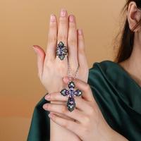 GZ ZONGFA-Anillo de Plata de Ley 925 con gema de espinela negra, Topacio azul natural, joyería fina personalizada