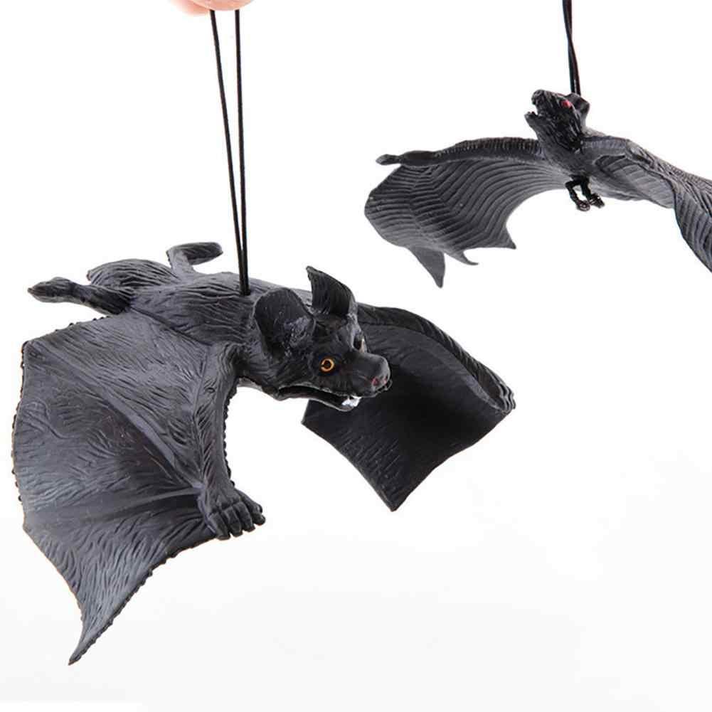 Kauçuk komik bir sahne cadılar bayramı simülasyon kauçuk yarasa asılı süsleme parti dekor şaka eğlenceli oyuncak pervane
