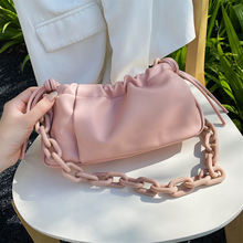 Chain folds clouds 2020 summer new bag women's shoulder