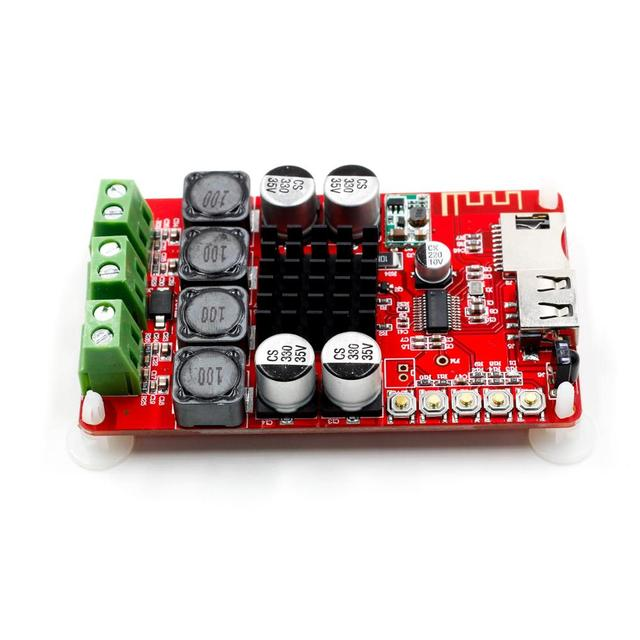 TPA3116 Bluetooth Receiver Amplifier Audio Board Digital U Disk TF Decoding With Remote 2X50W Amplificador
