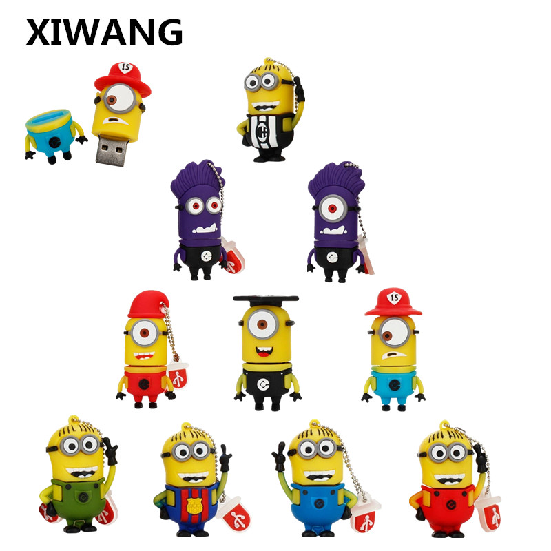 XIWANG cartoon big eyes Meng flash drive high speed usb 2.0 4GB 8GB 16GB 32GB 64GB Pendrive u disk mini notebook free shipping