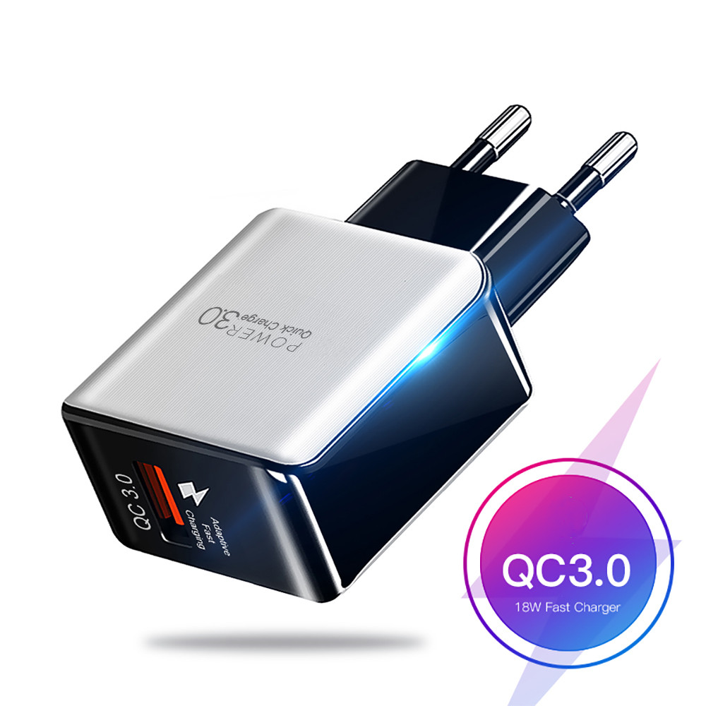 <font><b>5V</b></font> 3A <font><b>USB</b></font> Charger Quick Charge 3.0 4.0 Universal Fast Charging Power Adapter For iphone 11 Samsung Xiaomi tablet eu us charger image