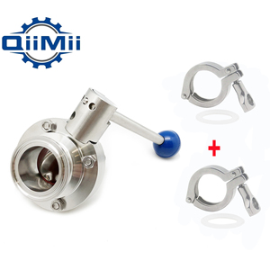 Image 2 - Economy Sanitary Tri Clamp Butterfly Valve SS304 Homebrew Butterfly Valve Optional: (+ 2x Clamp +2x Gasket)