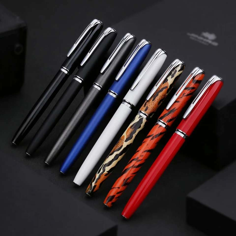 2020 Model New Style Luxury Jinhao 996 Leopard Fountain Pen 0.5mm Nib Ink Pen Financial Office Supplies for writing Gift