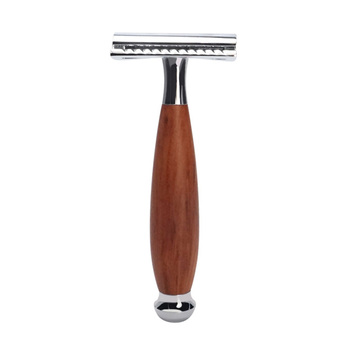 Professional Men Face Cleaning Tools Double Edge Safety Wood Handle Manual Shaver Beard Hair Removal Facial Grooming Supplies 1