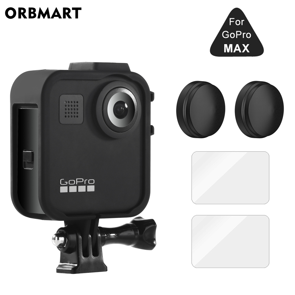Frame Case For GoPro MAX 360 Screen Protector Tempered Glass Protective Lens Film Housing Cover Mount For Go Pro Max Accessories