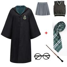 Dorosłych dzieci płaszcz Cosplay Potter kostiumy koszula magia dzieci dorosłych szata Potter kostium hermiona mundurek szkolny prezenty Halloween tanie tanio CN (pochodzenie) anime Unisex Zestawy poter Harris Poliester