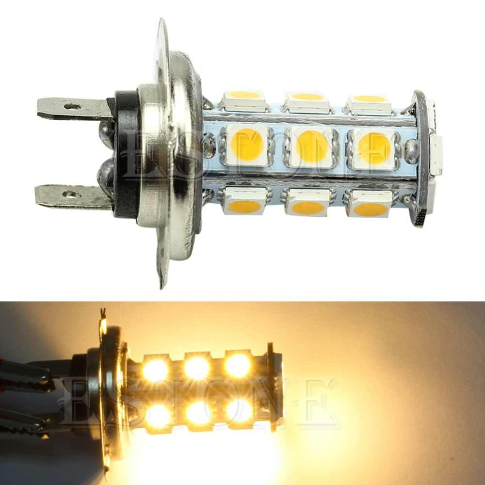 1 قطعة جديد العلوي H7 الدافئة الأبيض 18-SMD 5050 سيارة LED لمبات الضباب القيادة ضوء مصباح