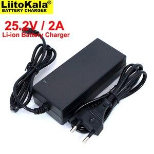 Image 2 - 도매 2PCS Liitokala 25.2V 2A 6 시리즈 18650 4.2V * 6S 리튬 배터리 충전기 25.2V 정전류 2A 전류 DC 5.5*2.1MM
