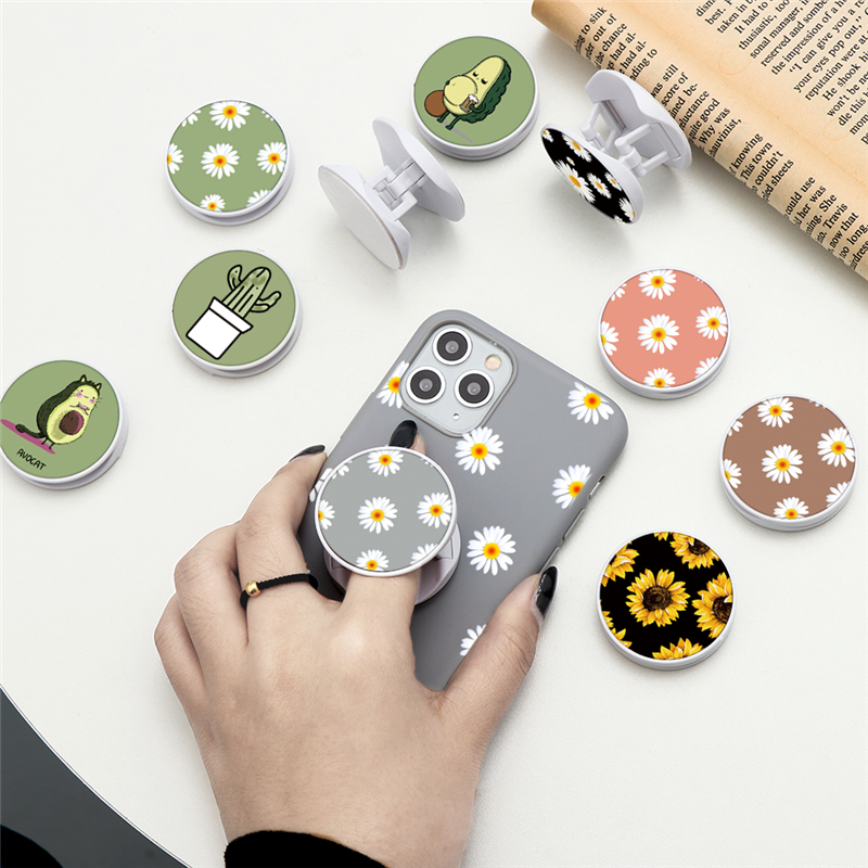 Summer Avocado Flowers Folding Stand For Mobile Phone Holder For IPhone 11 Pro IPAD For Samsung Huawei For Xiaomi Grip Kichstand