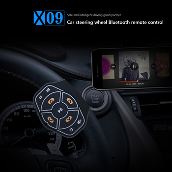 Universal Car bluetooth Wireless Remote Control Steering Wheel Mobile Phone MP3 Music Play for Android IOS Phone Control Car Kit image