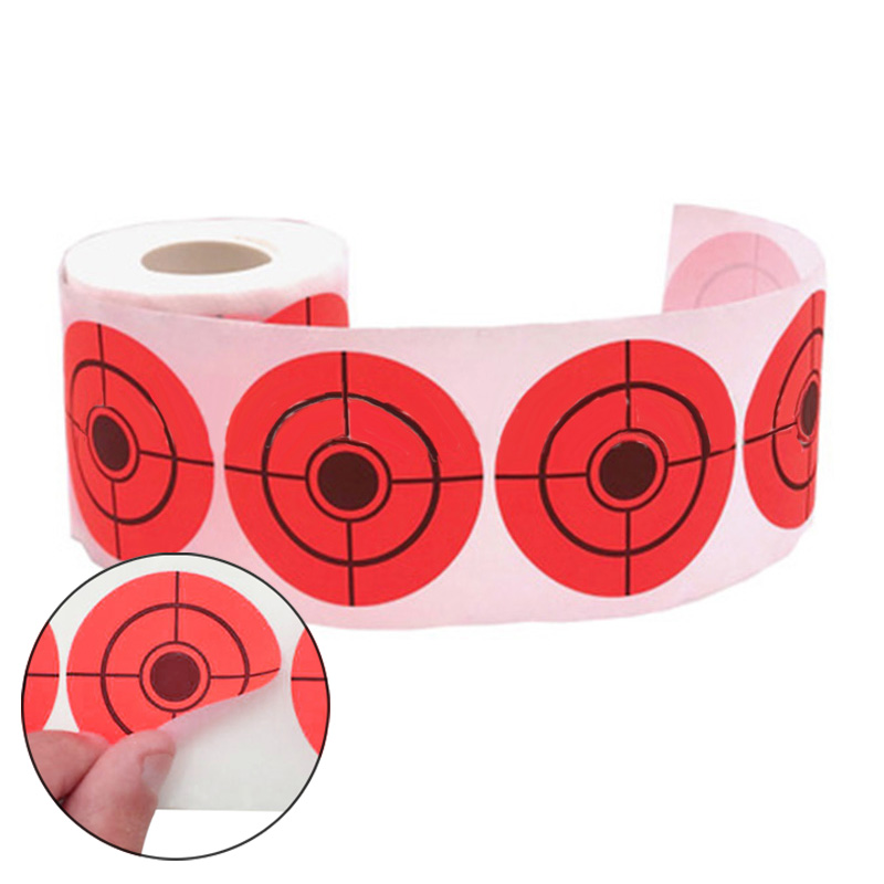 250pcs Roll Of Shooting Self-Adhesive Firing Practice Target Paper Sticker 5cm
