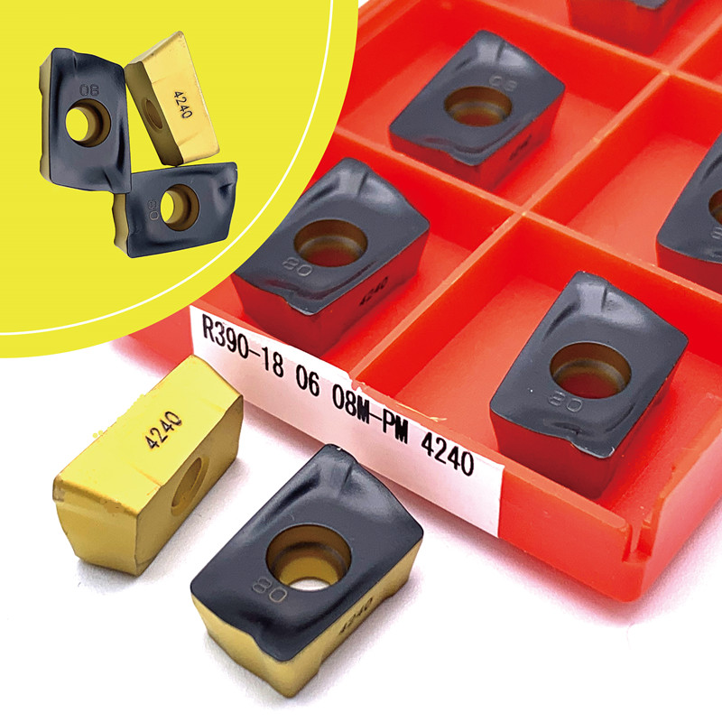 Carbide Inserts  Lathe Tools R390 180608/12M PM 1030/4240 4225 Milling Inserts Metal Milling Tools