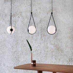 Image 2 - Nordic bola de vidro pingente luz moderna redonda global pendurado luz/luminária pingente decorativo