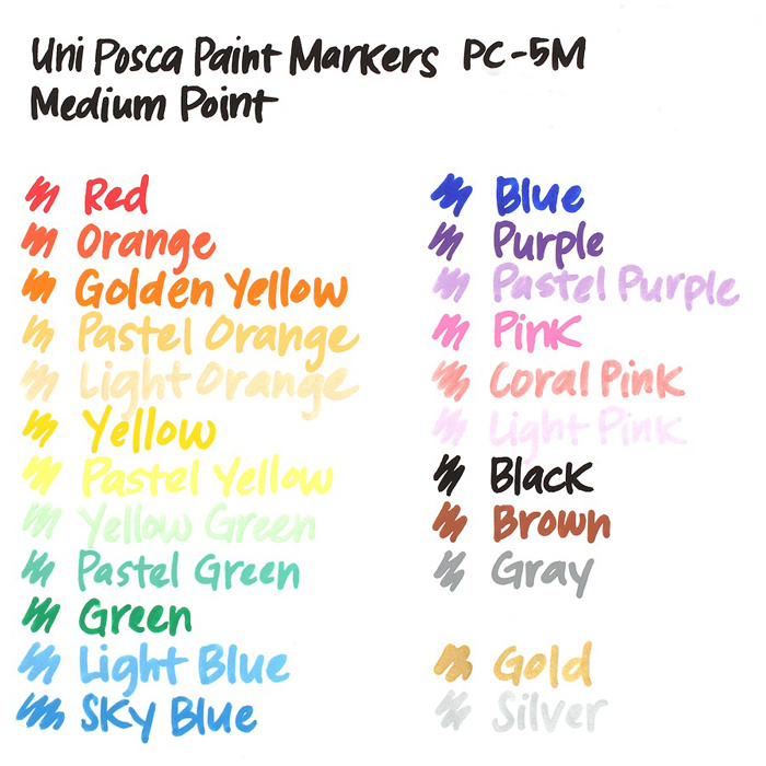 Top SaleUNI Pen Acrylic-Marker Advertising 21colors/24-Colors Highlight Graffiti 1m/5m