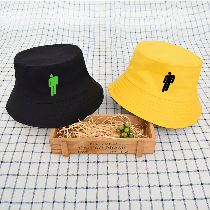 2019 Fashion Tide Street Shooting Billie Eilish Hats For Women Men Double-sided Fisherman Hat Dangcing People Flat Hats Visor