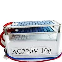 Dropshipping gerador de ozônio 10g portátil purificador ar cerâmica vida platelong placa cerâmica ozonizador desinfecção ar