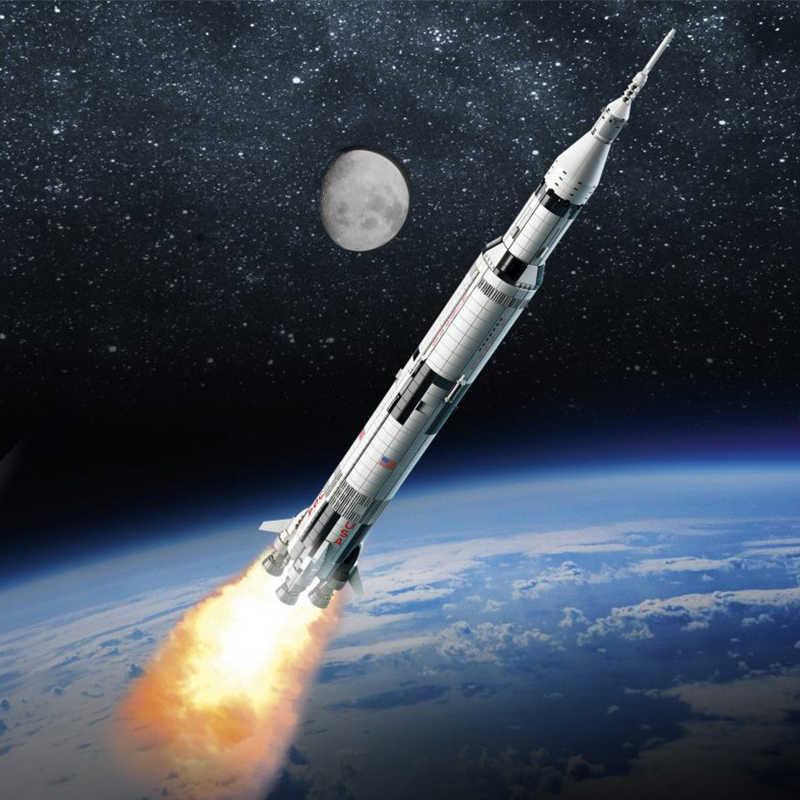 1112 個宇宙ステーション土星vロケットビルディングブロック都市シャトル衛星宇宙飛行士フィギュア男レンガセット子供のおもちゃのギフト