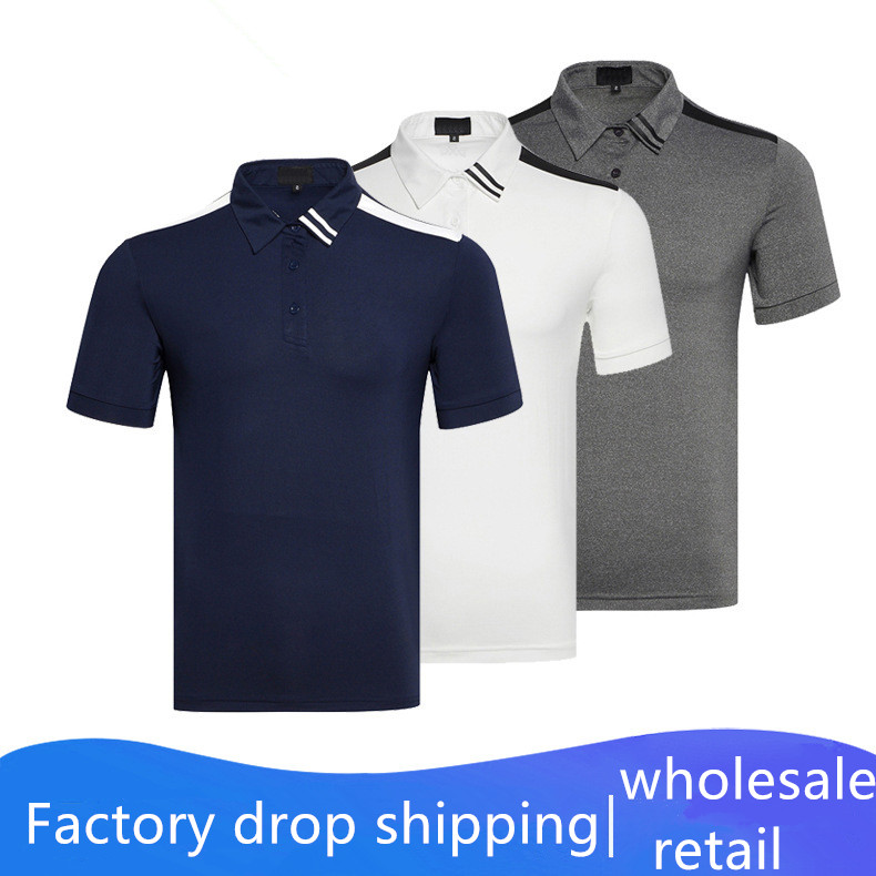 2020 Summer Golf Clothing Men Breathable Quick-drying Short-sleeved T-shirt Outdoor Sportswear Sweat-wicking Golf Shirt Top