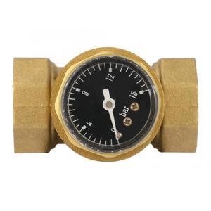 Image 4 - Válvula reductora de presión de 1 pulgada, regulador de presión de agua de latón con medidor de calibre, válvula de bola