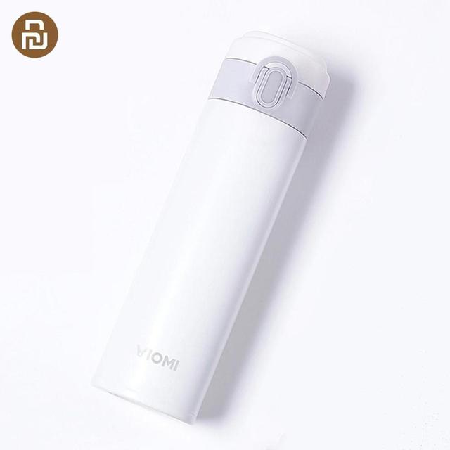 Viomi portátil vácuo garrafa térmica 300ml/460ml material de liga leve 24 horas garrafa térmica única mão em/fechar
