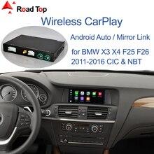 Bezprzewodowy CarPlay dla BMW CIC,NBT,EVO System X3 F25 X4 F26 2011 2020, z funkcją Android Mirror Link AirPlay Car Play