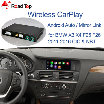 Wireless CarPlay for BMW CIC NBT System X3 F25 X4 F26 2011-2016, with Android Mirror Link AirPlay Car Play Function