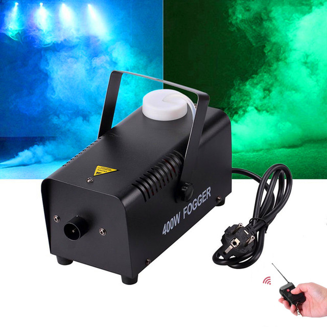 Éjecteur de fumée/télécommande sans fil 400W Machine à brouillard/scène 400W brumisateur/400 watts Machine à fumée pour Disco,KTV, fête, mariages
