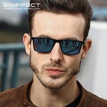 SIMPRECT Polarized Sunglasses Men 2019 Mirror Square Sunglasses