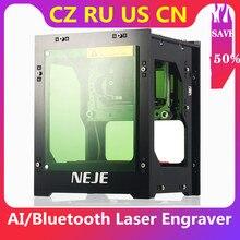 NEJE DK-8-KZ DK-BL 3000mW Laser Engraver 450nm AI Mini Engraving Machine Wireless BT Print Engraver CNC Laser Cutter Machine