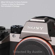 Cao Cấp Decal Dán Da Cho Sony A7III A7R3 A7M3 A7R4 A9 A7R2 A7M2 A7S2 Camera Da Decal Bảo Vệ Chống Trầy Xước áo Khoác Bọc Cover