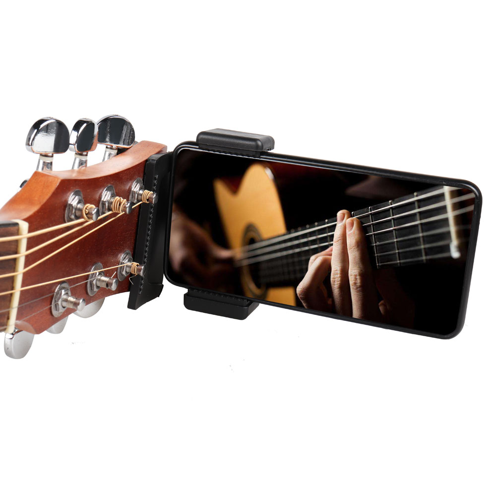 Купить с кэшбэком Guitar Head Mobile Phone Holder Clip Live Broadcast Bracket Stand Mobile Phone Tripod Clip Head for iPhone Samsung Smart Phones