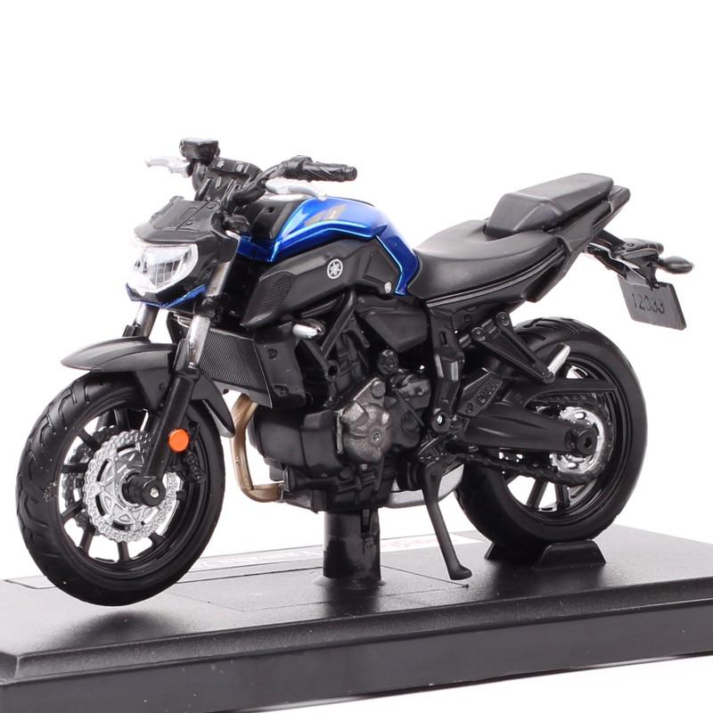 1/18 escala maisto 2018 yamaha MT-07 modelo da motocicleta diecasts & veículos de brinquedo YZR-M1 bicicleta yzf r1 r6 estrada estrela corrida crianças presente