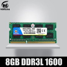 Veineda Laptop Ram DDR3L 4GB 8GB 1600 PC3-12800 204PIN Memori DDR3L 1333 PC3-10600 SODIMM Ram Kompatibel INTEL DDR3 papan Utama(China)