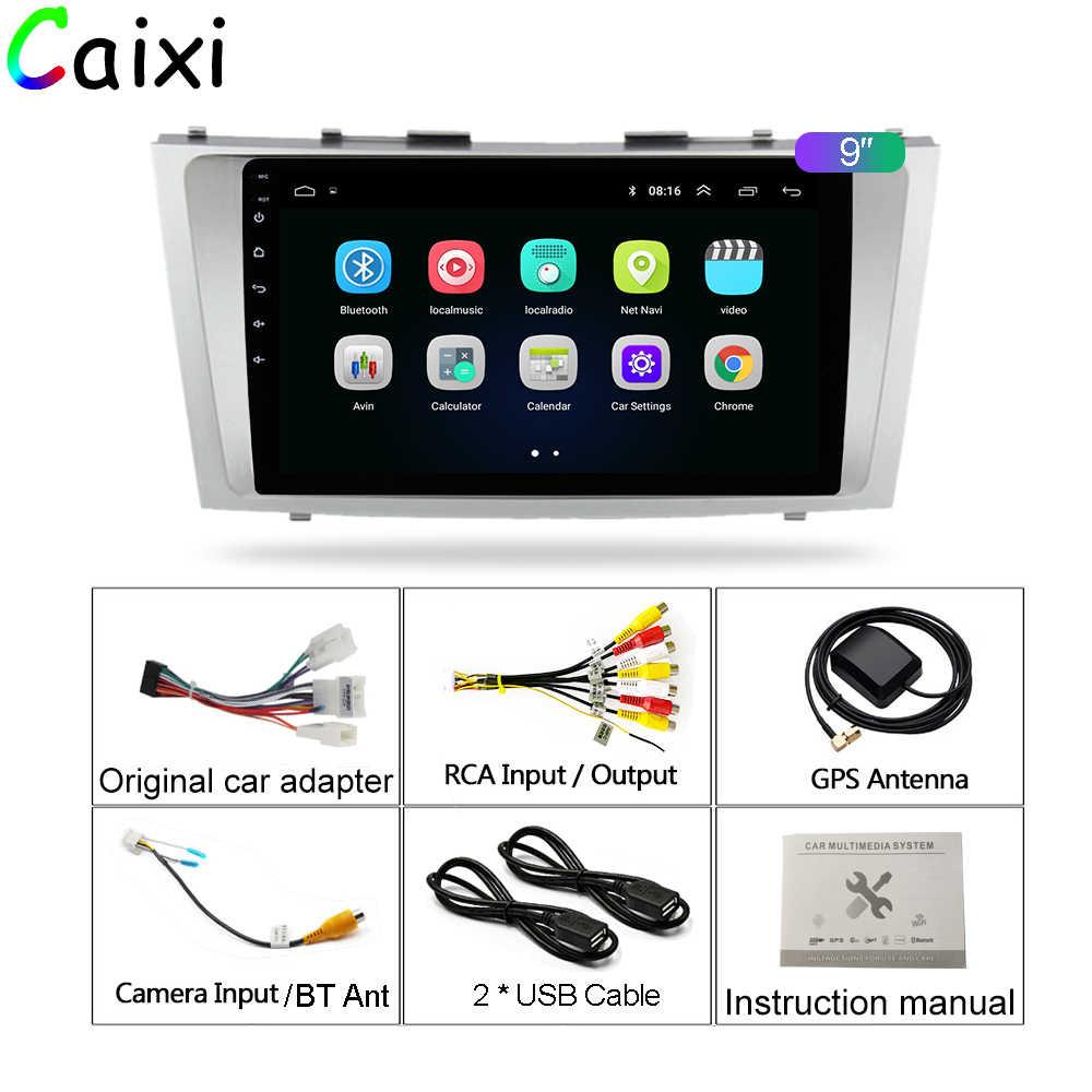 Samochód Xi 2din 9 cal 2.5D Android 8.1 samochodowy odtwarzacz dvd radio odtwarzacz multimedialny dla Toyota Camry 2007 2008 2009 2010 2011 nawigacja gps