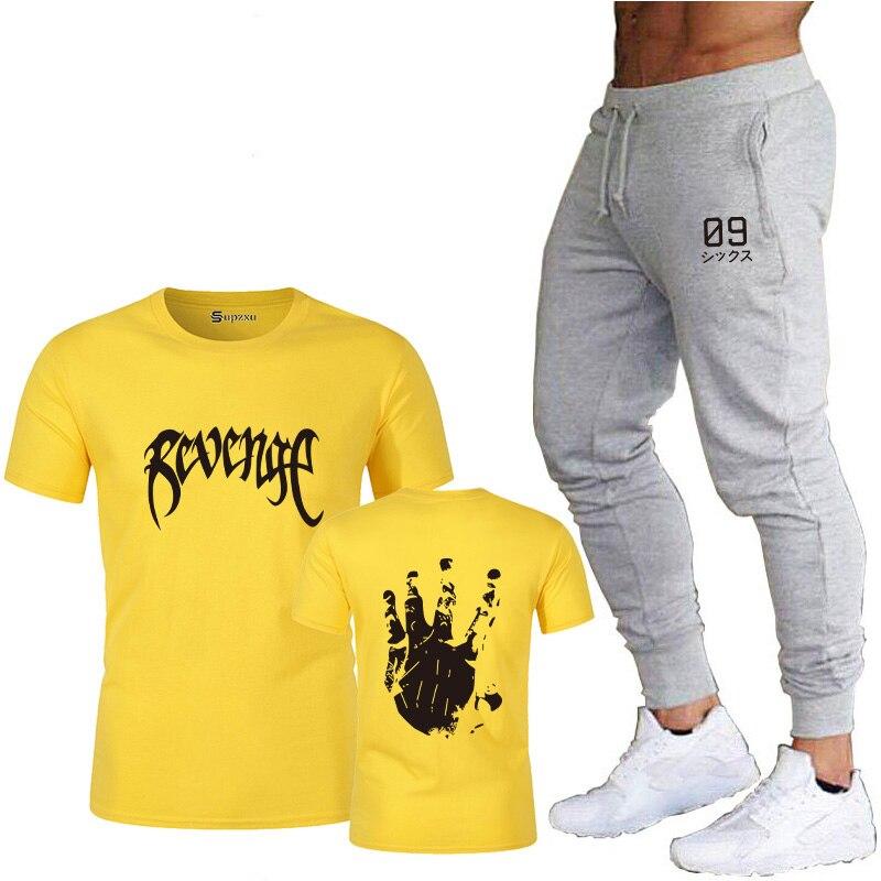 Купить мужская футболка с принтом и спортивные брюки мужская летняя