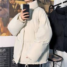 Kış ceket erkek sıcak moda düz renk Casual kalınlaşmış Stand-up yaka ceket Arka erkekler gevşek kore kısa ceket erkek giysileri