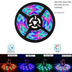 Image 3 - Bande lumineuse RGB avec adaptateur 12V, bandes lumineuses flexibles, 5/10/15M, bandes lumineuses flexibles avec adaptateur Google Home et Alexa WIFI LED, WIFI LED