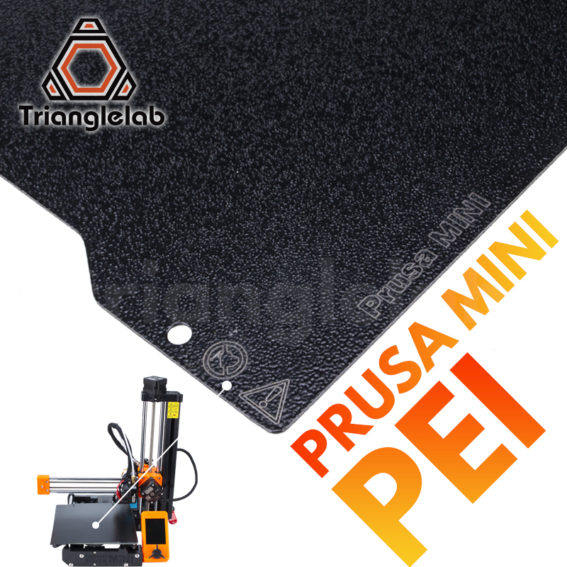 Trianglelab 192X186(186X186MM)Prusa MINI Double Sided Textured PEI Spring Steel Sheet Powder Coated PEI Build Plate 3D Printer