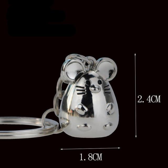 New Chunky Rat Mouse Keychain Fashion Trinket Animal Car Keyfob Bag Pendant Key Chain Personalized Keyring for Women Gift 1