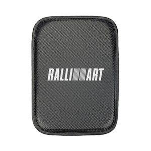 Estilo do carro para mitsubishi lancer 10 ralliart asx lancer outlander pajero almofada de braço do carro cobre armazenamento proteção almofada 1 pçs